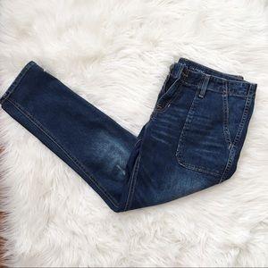 GAP Girlfriend Fit Distressed Jeans- C19